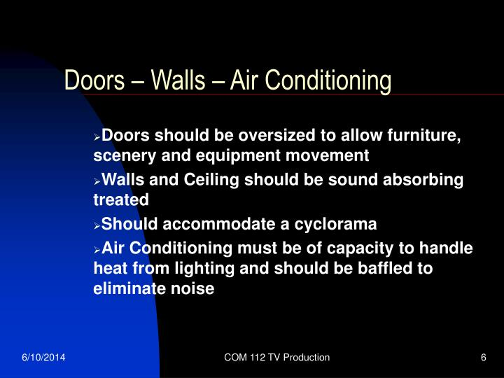 Doors – Walls – Air Conditioning