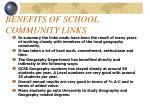 benefits of school community links17