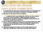 links with the higher education community6