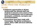 links with the world of work