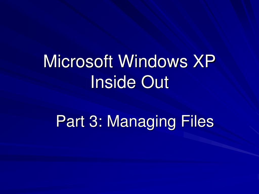 microsoft windows xp inside out l.