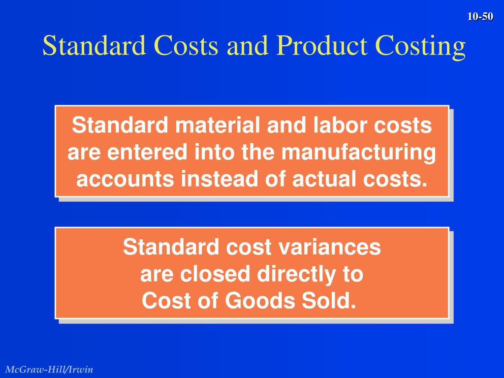Standard Costs and Product Costing