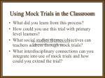 using mock trials in the classroom