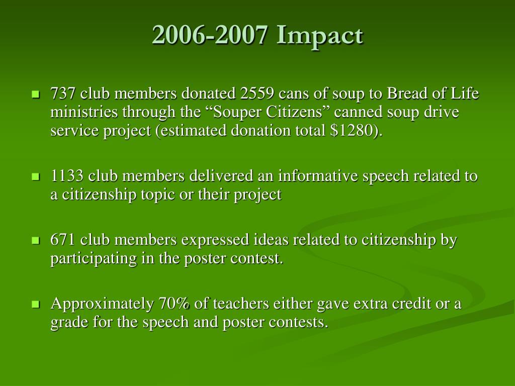 2006-2007 Impact