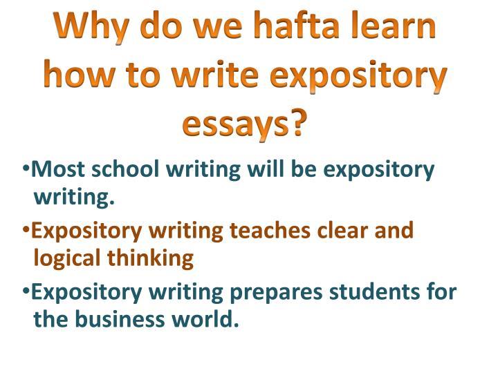 We do an essay