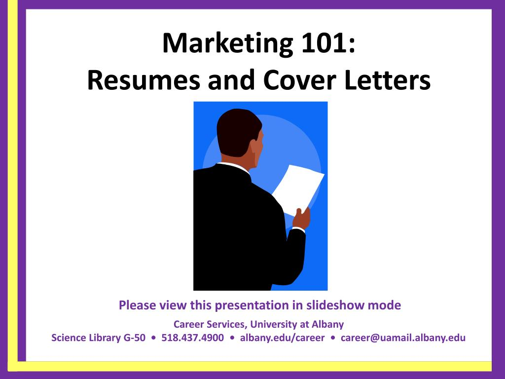 marketing 101 resumes and cover letters l.