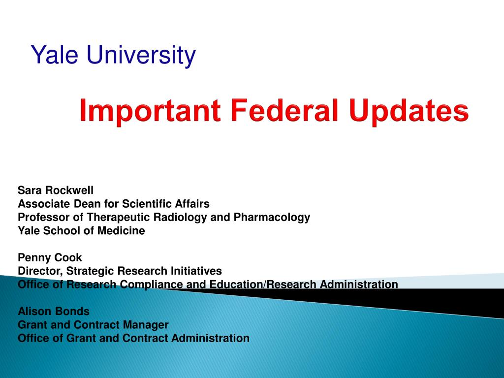 important federal updates l.