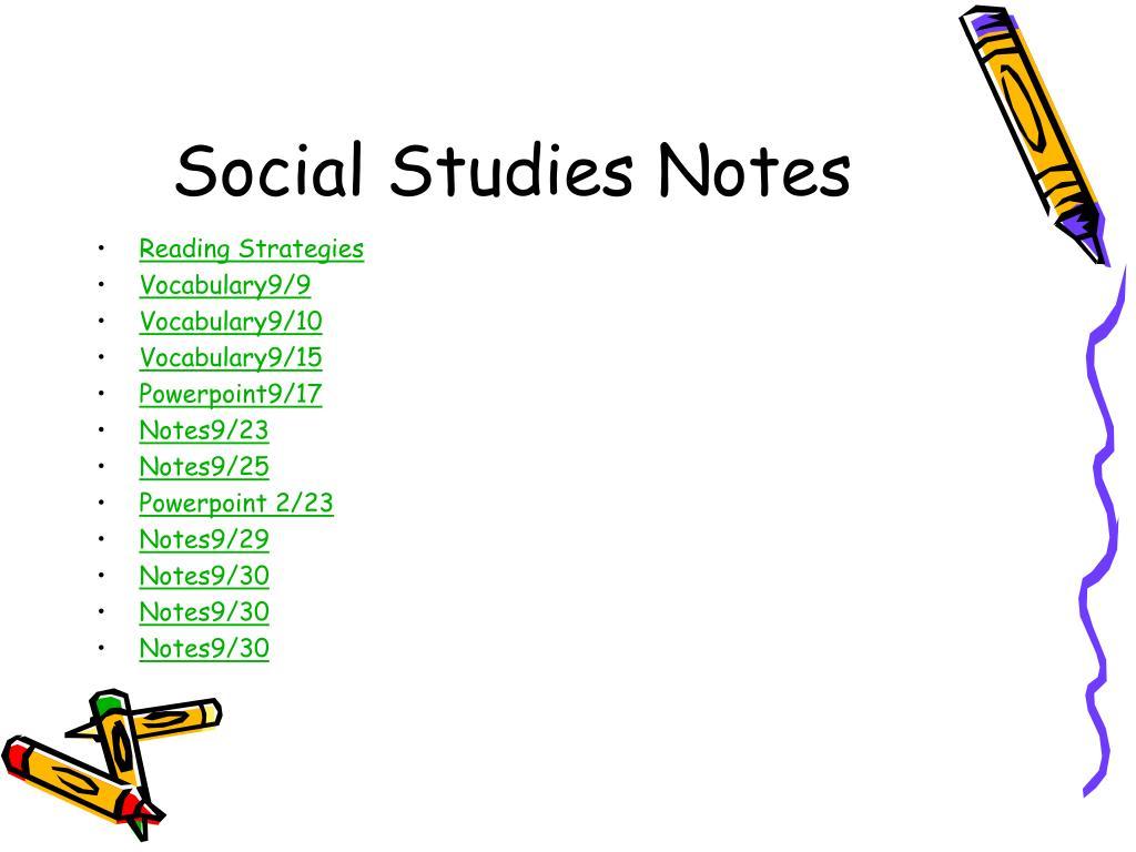 social studies notes l.