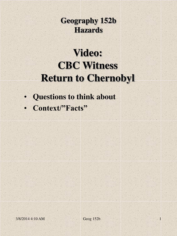 video cbc witness return to chernobyl l.