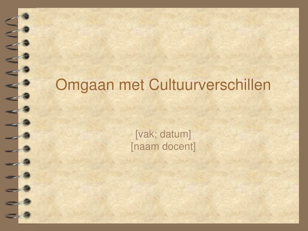 omgaan met cultuurverschillen l.