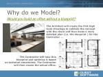 why do we model