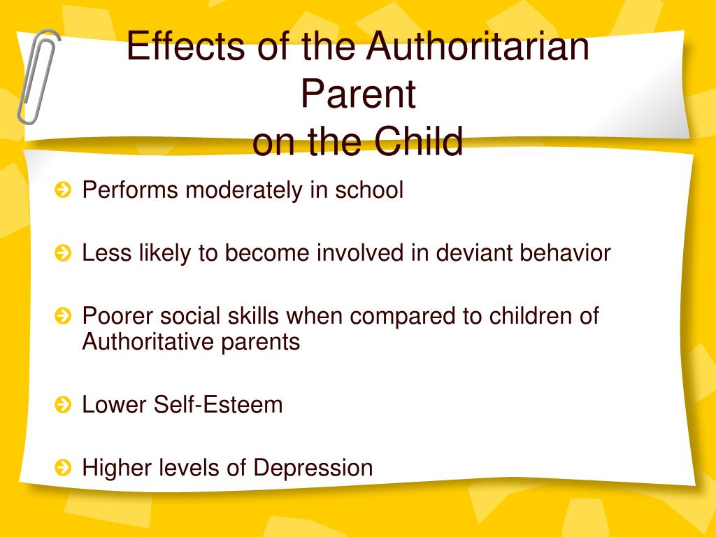 authoritarian parenting negative effects of authoritarian How different parenting styles affect children by dr gail gross in my previous blog post  the child of an authoritarian parent.
