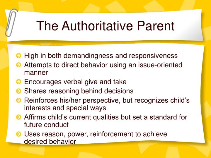 authoritativeparent against permissive parent How to discipline a child  make sure your teen knows that you are still their parent and that they need  teens will likely push up against rules or go through.