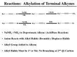 reactions alkylation of terminal alkynes