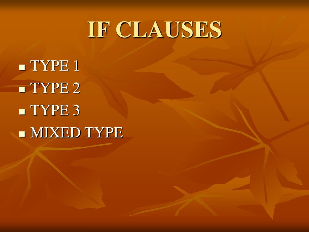 IF CLAUSES