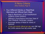 9 menu criteria blue handout page 438