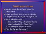 certification process19