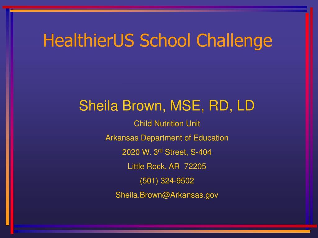 healthierus school challenge l.