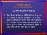whole grains green handout page 10