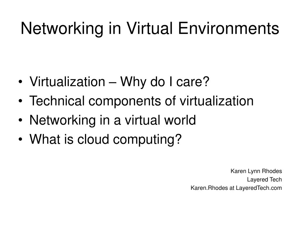 networking in virtual environments l.