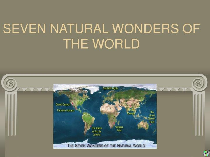 seven natural wonders of the world n.