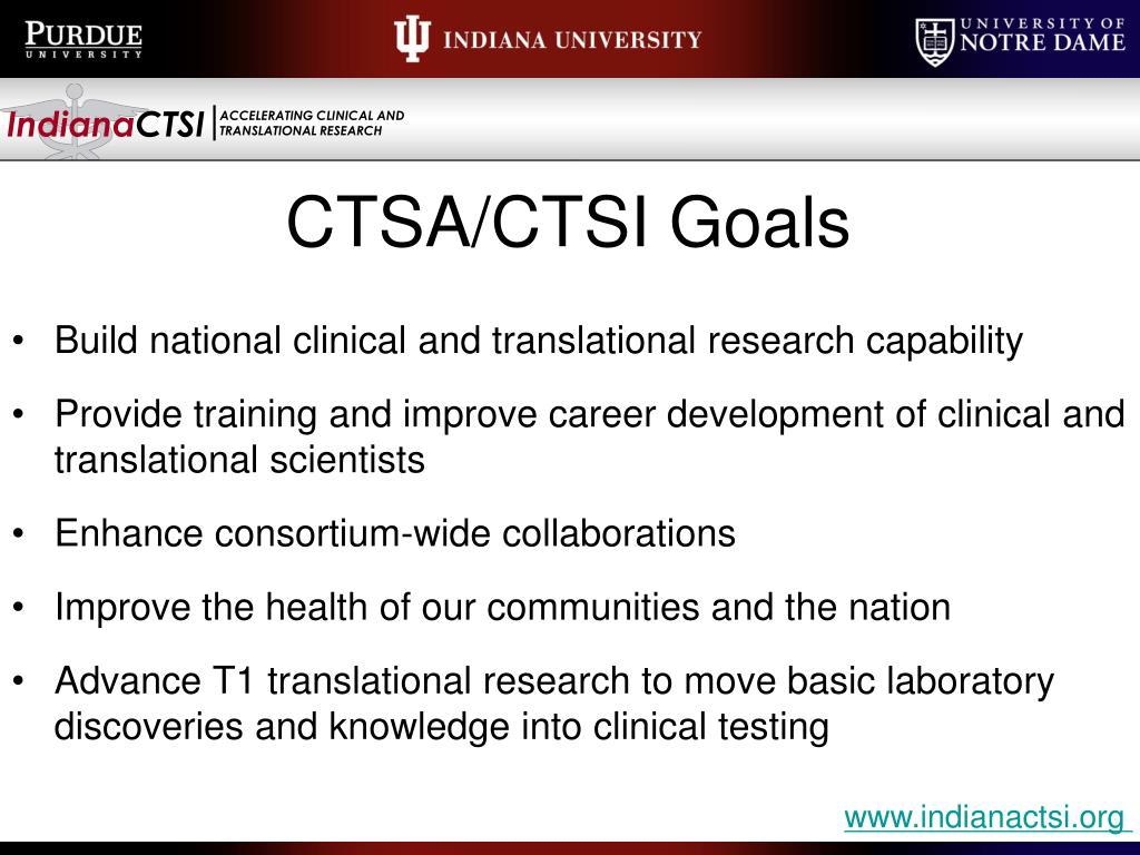 CTSA/CTSI Goals