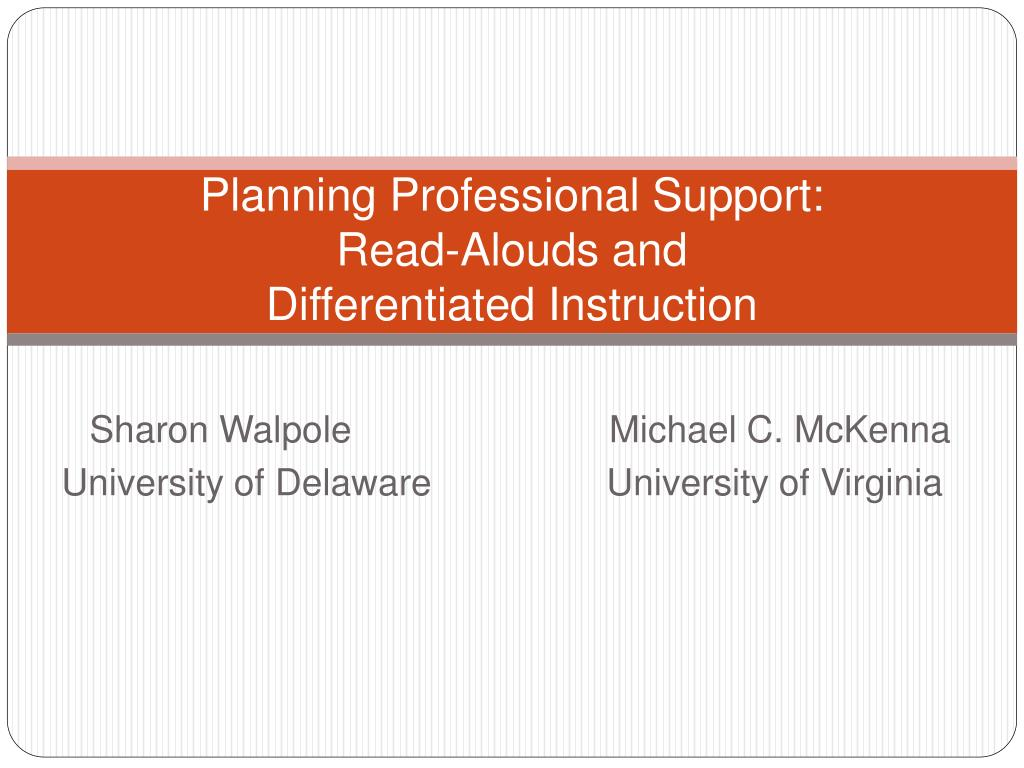 planning professional support read alouds and differentiated instruction l.