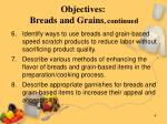 objectives breads and grains continued4
