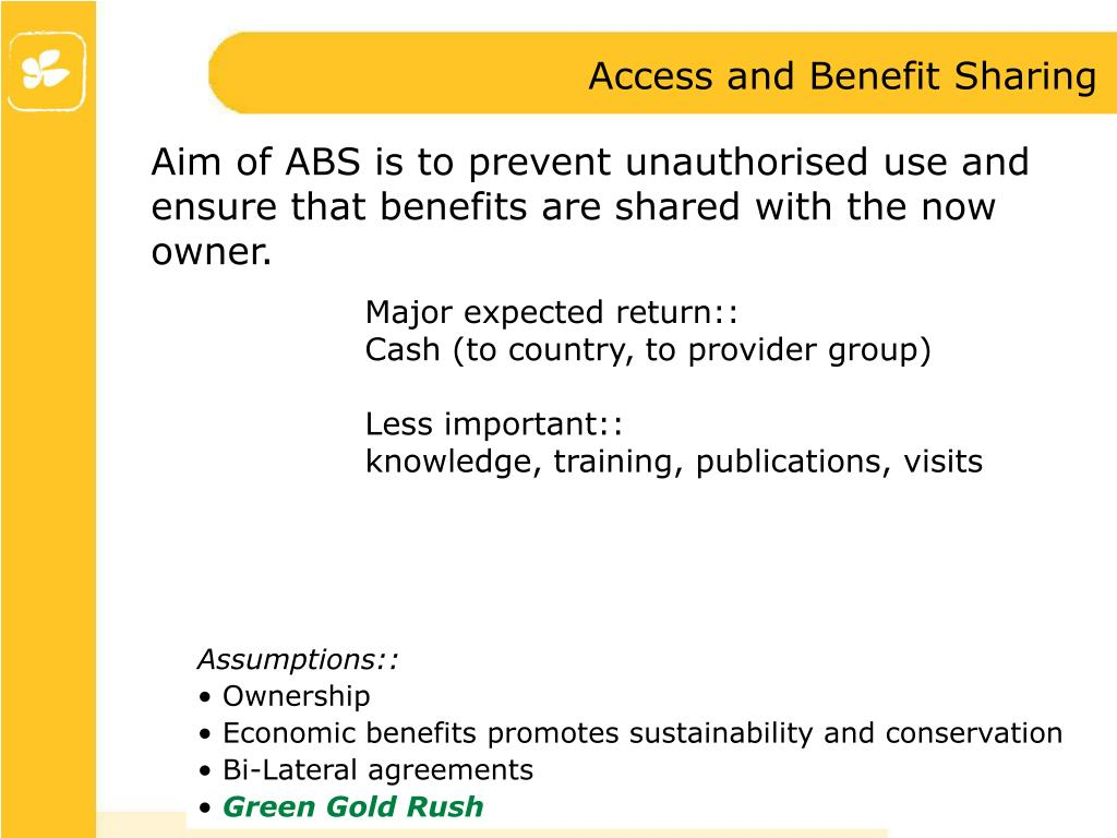 Access and Benefit Sharing