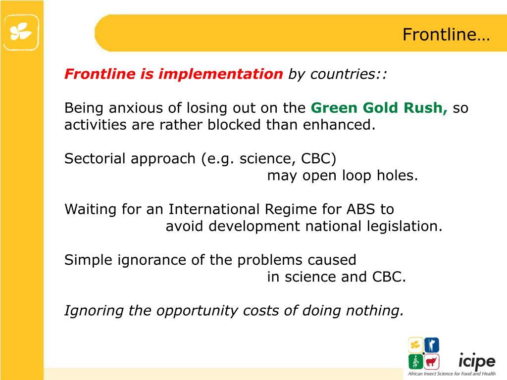 Frontline…
