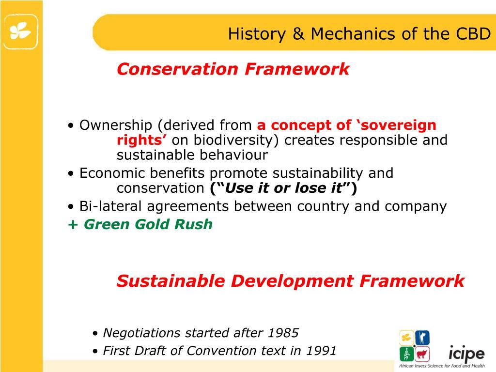 History & Mechanics of the CBD
