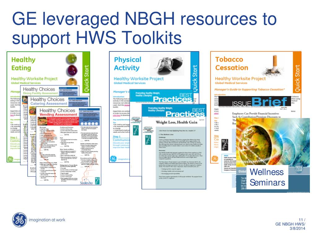GE leveraged NBGH resources to support HWS Toolkits