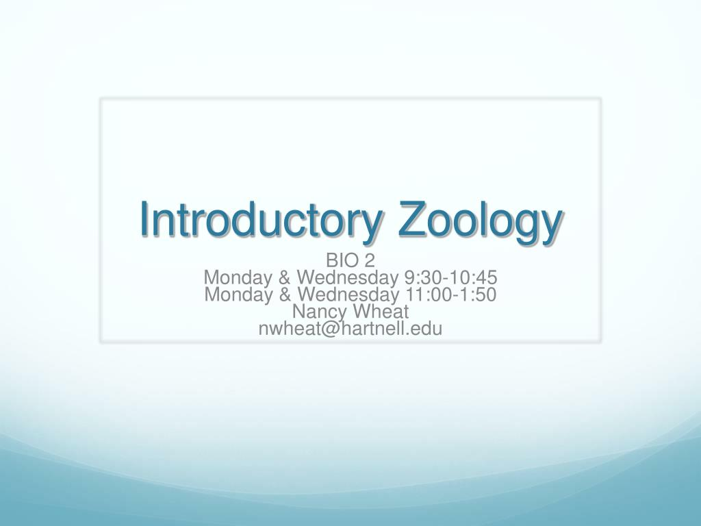introductory zoology l.
