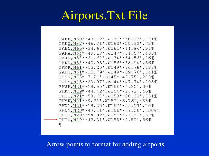 Airports.Txt File