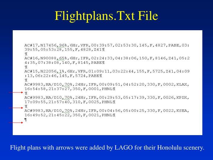 Flightplans.Txt File
