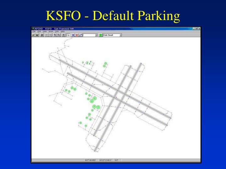 KSFO - Default Parking