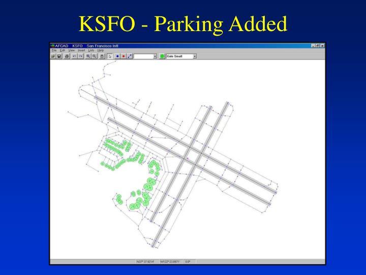 KSFO - Parking Added