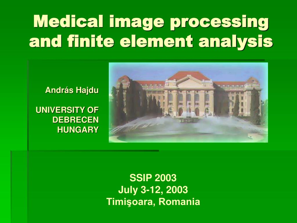 medical image processing and finite element analysis l.