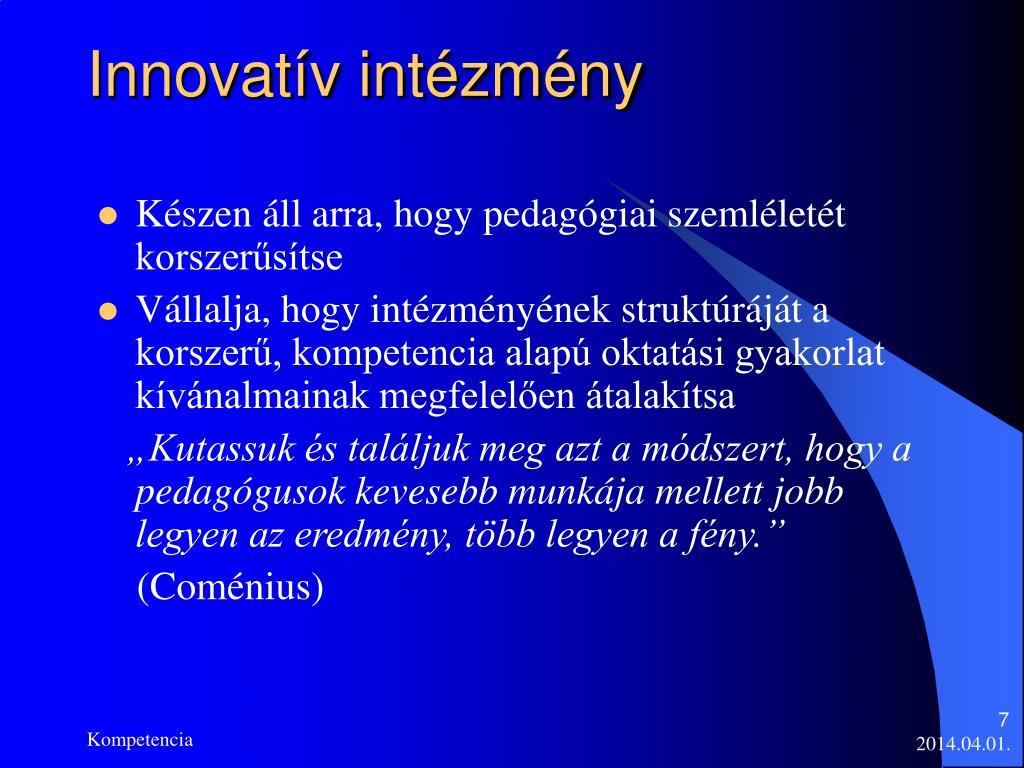 Innovatív intézmény