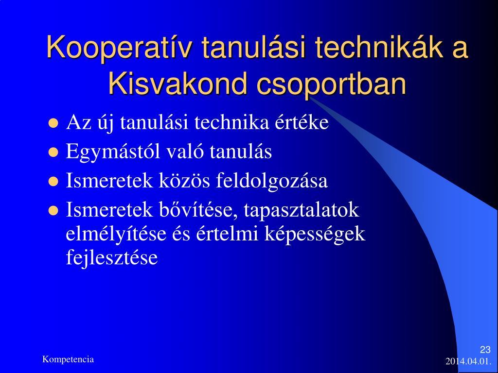 Kooperatív tanulási technikák a Kisvakond csoportban