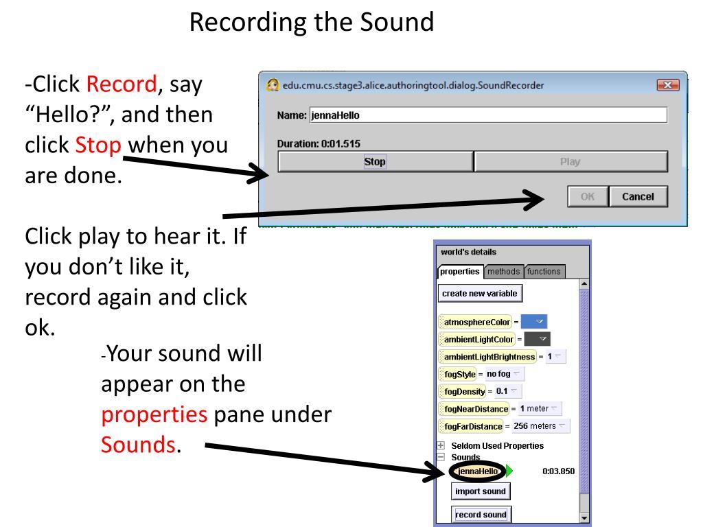 Recording the Sound