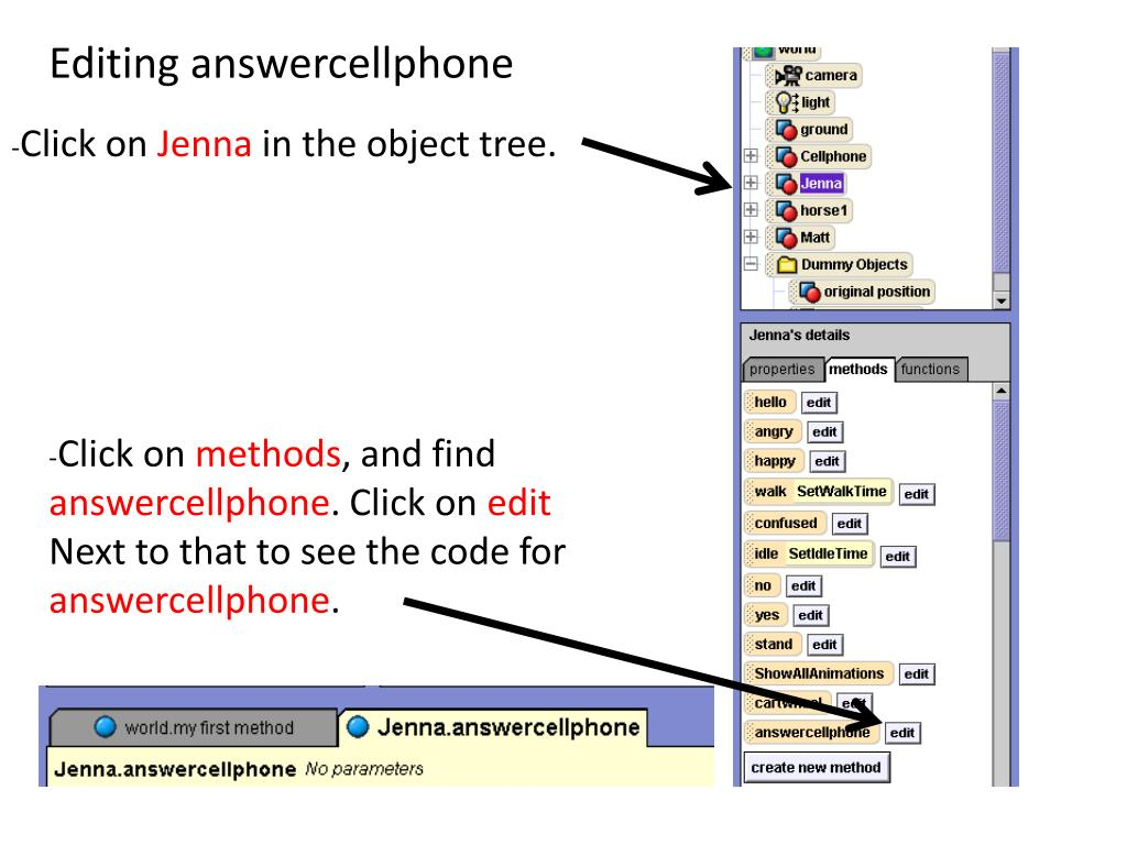 Editing answercellphone