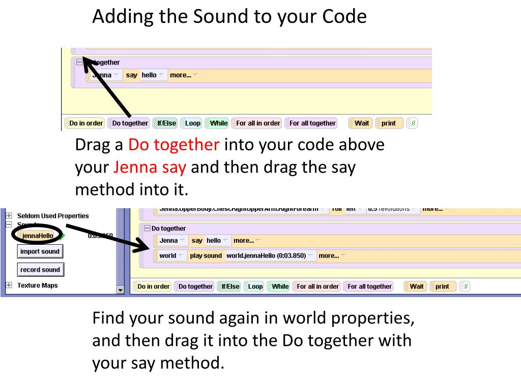 Adding the Sound to your Code