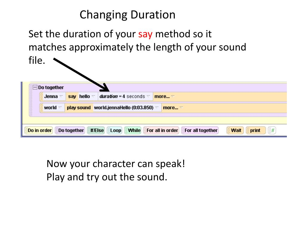 Changing Duration