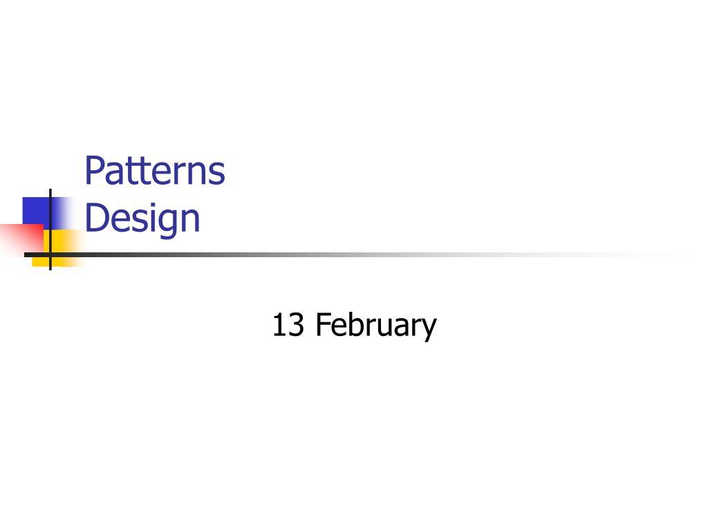 patterns design l.