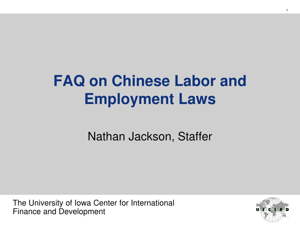 faq on chinese labor and employment laws l.