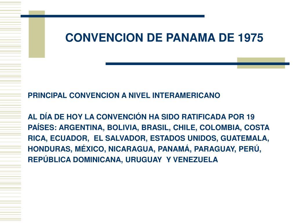 CONVENCION DE PANAMA DE 1975