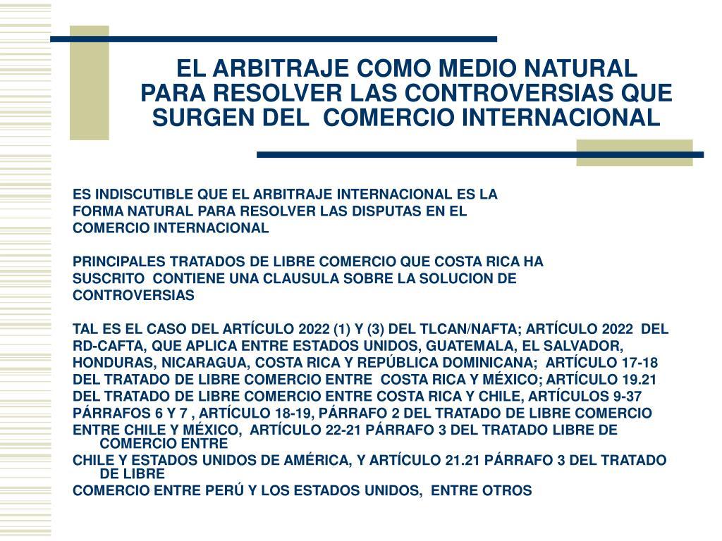 EL ARBITRAJE COMO MEDIO NATURAL