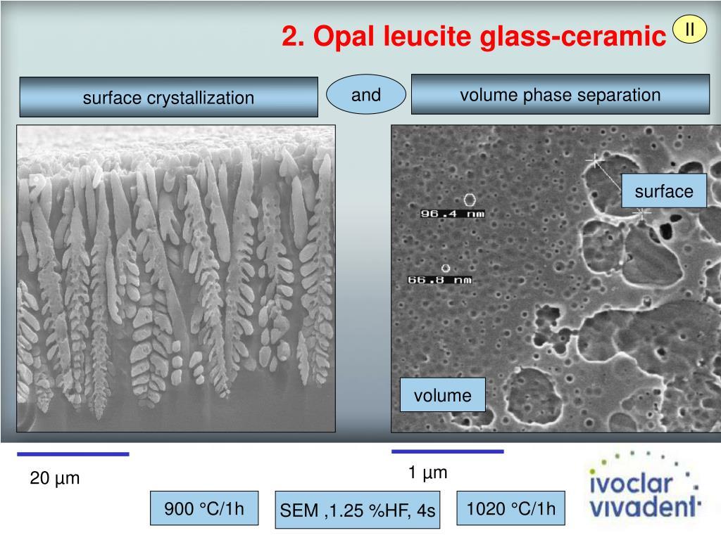2. Opal leucite glass-ceramic