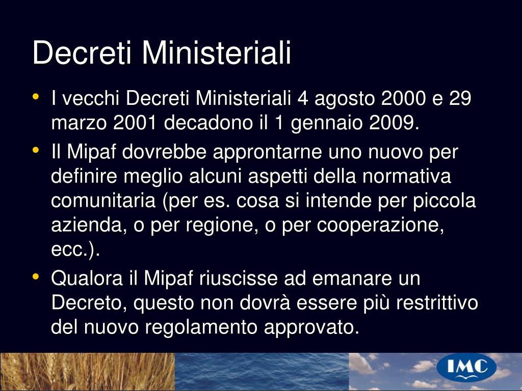 Decreti Ministeriali